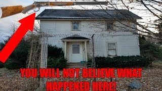 FOUND GUN IN ABANDONED MURDERER'S HOUSE!