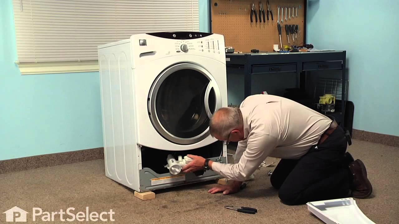 Washing Machine Repair Replacing The Drain Pump And