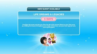CARA MENYELESAIKAN LIFE DREAMS & LEGACIES QUEST | THE SIMS FREEPLAY INDONESIA