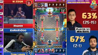 CLASH ROYALE BEST MATCH IN HISTORY! (HIGHER VS KANARIOOO, WON BY 7 POINTS!) FINALS!