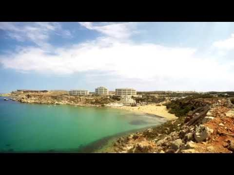 Golden Bay, Malta time-lapse