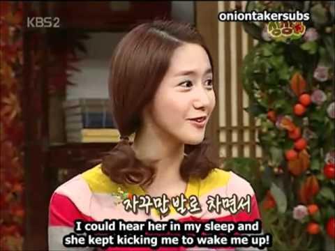 Yoona's sleeping face