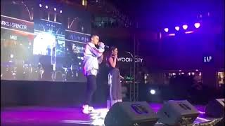 "Inigo Pascual at Kyla's album launch, singing their collab ""Talk About Us"""