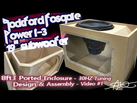 Massive Subwoofer, Massive Ported Box (Build)  Rockford Fosgate Power T3 19