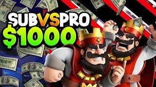 CAN MY SUBS BEAT A PRO FOR $1,000 CASH?!
