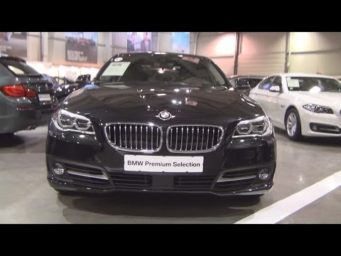 BMW 530d xDrive Sedan Black Sapphire (2015) Exterior and Interior in 3D