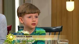 Ovanligt smarta barn kan bli utåtagerande - Nyhetsmorgon (TV4)
