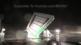 Hurricane Florence Gas Station Canopy Collapse, Top Sail Beach, NC 9/13/2018
