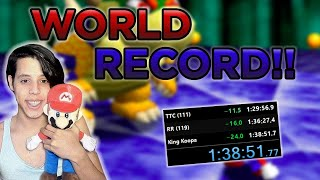 [WORLD RECORD] Super Mario 64 120 Star Speedrun in 1:38:51