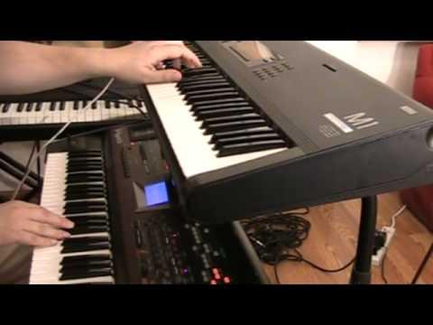 Korg M1 & Roland V-Synth New Age style improvisation