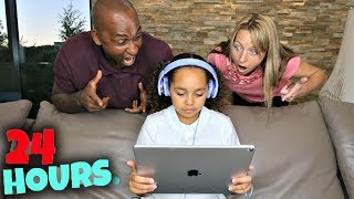 IGNORING MY PARENTS FOR 24 HOURS!!