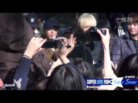 [fancam] 121030 Super Junior at Leeteuk's Enlistment