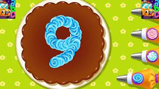 learn numbers 1 to 10 for kids toddlers by chocolate cake ' count 1,2,3 | learning kids art