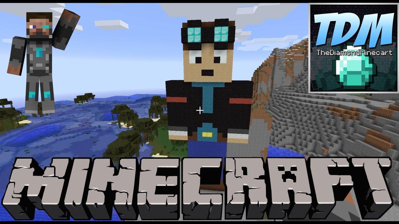 The Diamond Minecart Statue - Minecraft - YouTube