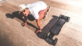 TRYING THE FASTEST ELECTRIC SKATEBOARD! Boosted Board KILLER!! | VLOG² 95