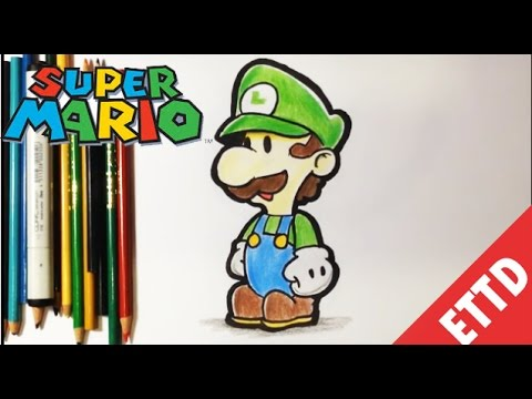 How To Draw Luigi From Super Mario Bros Easy Things To Draw