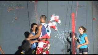 Men´s speed climbing competition