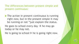 Present continuous| Understand English