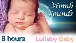 ☆ 8 HOURS ☆ Womb Sounds for babies to go to sleep ☆ Womb sounds and heart beats ☆ Heartbeats