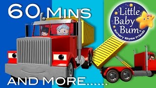 Song About Trucks | Plus Lots More Nursery Rhymes | 60 Minutes Compilation from LittleBabyBum!
