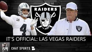 Las Vegas Raiders Officially Announced As New Team Name | Raiders News