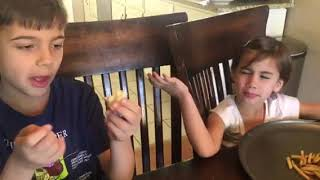 Aiden and Colette- Gummy vs. Real Food Challenge
