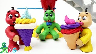 Baby Video Stop-Motions Baby-ice-creams Compilation-Cute Play Doh Baby Cartoons