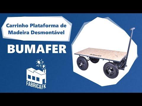 Carrinho Plataforma de Madeira 300 Kg Desmontável Bumafer - Vídeo explicativo