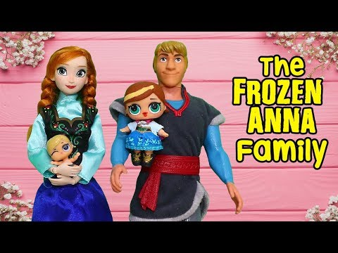 LOL Families ! The Frozen Anna Family and the New Baby | Toys and Dolls Fun for Kids | SWTAD