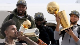 Golden State Warriors - returning home after winning the championship
