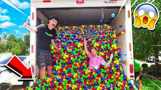 PUTTING 50,000+ BALL PIT BALLS IN A MOVING TRUCK