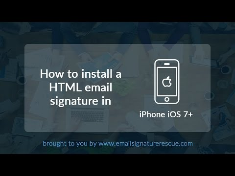 How to install a signature on your iPhone