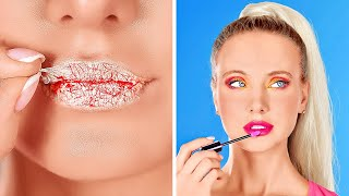 COOL BEAUTY AND MAKE UP HACKS    Girly Hacks And Beauty Tricks by 123 GO!