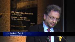 BigBrotherAwards 2014, Heribert Prantl