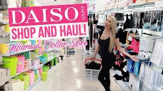 JAPANESE DOLLAR STORE TOUR & HAUL! Daiso Shop With Me!