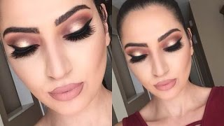 Holiday Look: Thanksgiving Makeup Tutorial | Cranberry & Gold |