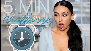 5 MINUTE MAKEUP CHALLENGE! Carli Bybel