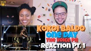 Kokoi Baldo - One Day (The Voice Philippines) Reaction Pt.1