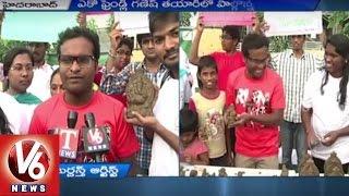 Jabardasth fame Racha Ravi participates in clay Ganesh awa..