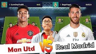FIFA Online 4 | LINGARDINHO Đối Đầu S. RAMOS | MAN UTD Vs Real Madrid | GIẢI ĐẤU +0 ĐẠI CHIẾN