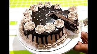 Chocolate cake without oven without egg   बिना अंडे बिना ओवन वाला चॉकलेट केक ~ Bristi Home Kitchen