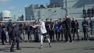 Professor hoops at Navy Base   INSANE FINISH   vs 250lb Navy Officer