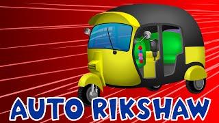 Auto Rickshaw | Tuk Tuk | Cars Cartoon | Construction Vehicles | Cranes | Diggers | Apps for Kids - YouTube