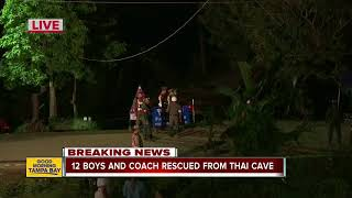 All 12 boys, coach rescued from Thailand cave