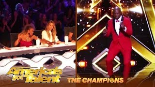 Terry Crews Showcases His DANCE Moves Get's Mel B & Heidi Golden Buzzer! | AGT Champions