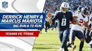 Derrick Henry's Huge Run Sets Up Marcus Mariota's TD Run! | Texans vs. Titans | NFL Wk 13 Highlights