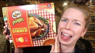 Thanksgiving Dinner Pringles Taste Test - OMG!