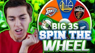 SPIN THE WHEEL OF NBA BIG THREES! NBA 2K18 SQUAD BUILDER
