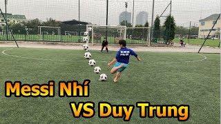 Thử Thách Bóng Đá Duy trung trổ tài thủ môn so tài Messi nhí tuyển Futsal Việt Nam