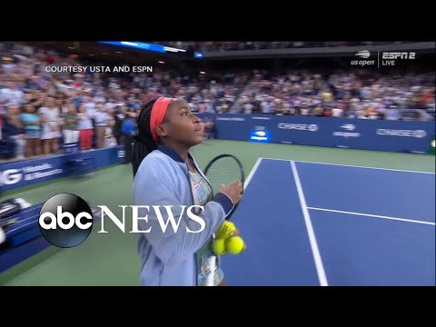Coco Gauff scores epic 3-set win at US Open | ABC News